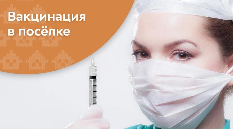 Вакцинация в посёлке | КП Варежки 3